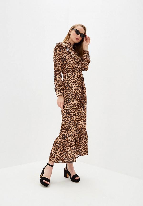 женское повседневные платье tutto bene, коричневое