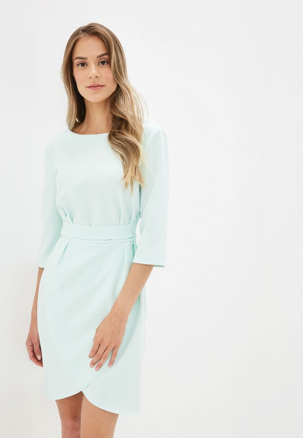 женское повседневные платье tutto bene, бирюзовое