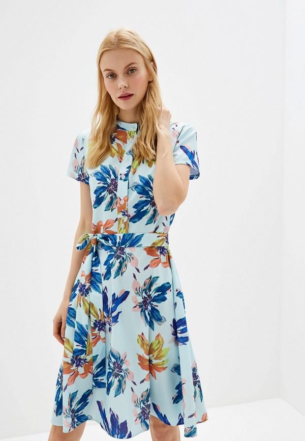 женское повседневные платье tutto bene, голубое