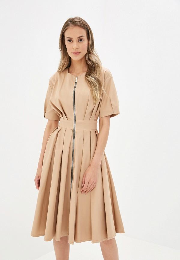 Купить женское платье Tutto Bene бежевого цвета
