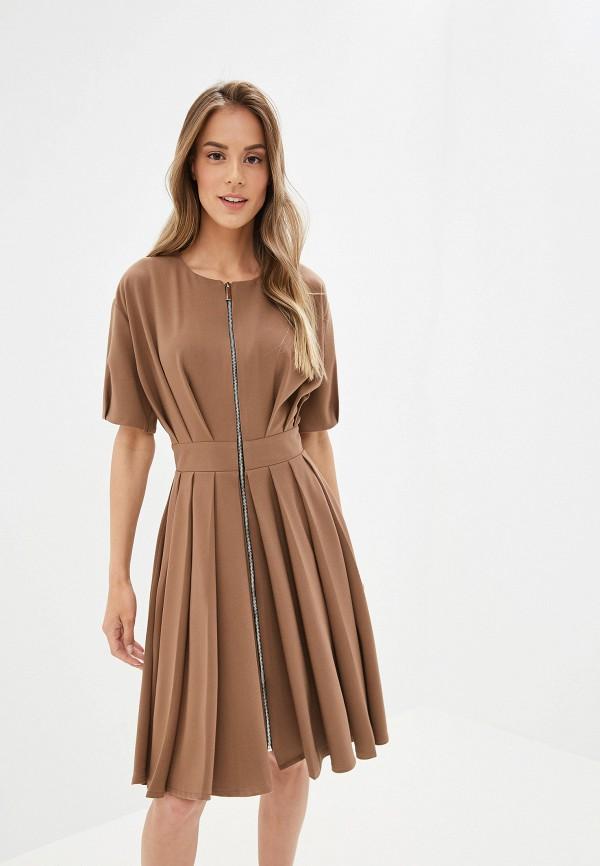 женское платье tutto bene, коричневое