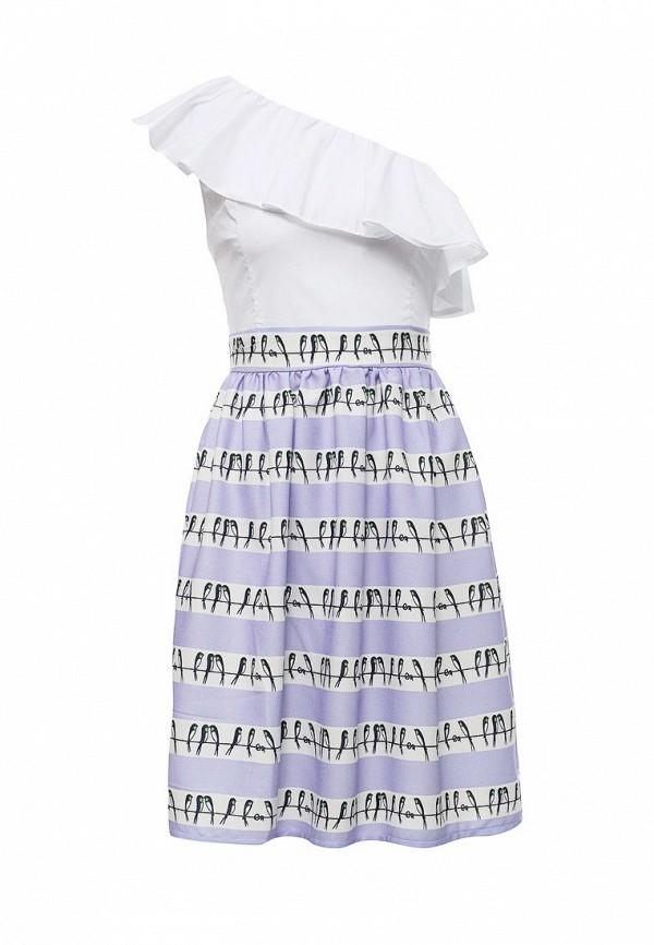женское вечерние платье tutto bene, фиолетовое