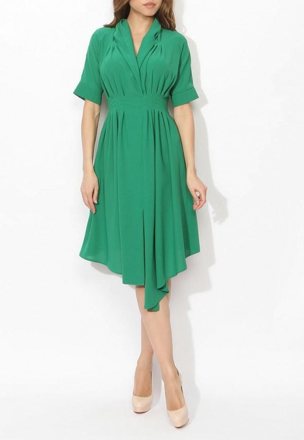 Фото 7 - женское вечернее платье Tutto Bene зеленого цвета