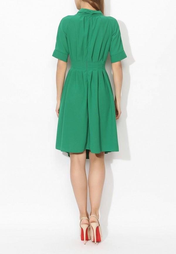 Фото 9 - женское вечернее платье Tutto Bene зеленого цвета