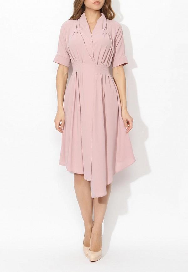 Фото 7 - женское платье Tutto Bene розового цвета