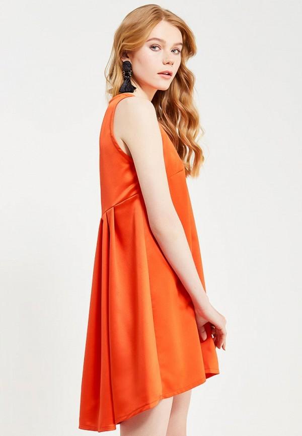 Фото 5 - женское вечернее платье Tutto Bene оранжевого цвета