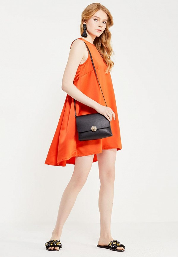 Фото 6 - женское вечернее платье Tutto Bene оранжевого цвета