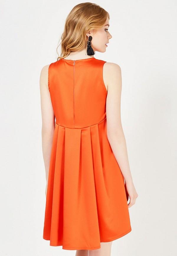 Фото 7 - женское вечернее платье Tutto Bene оранжевого цвета