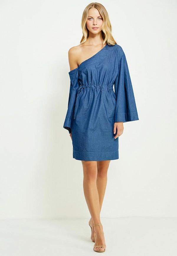 Фото 5 - женское вечернее платье Tutto Bene синего цвета