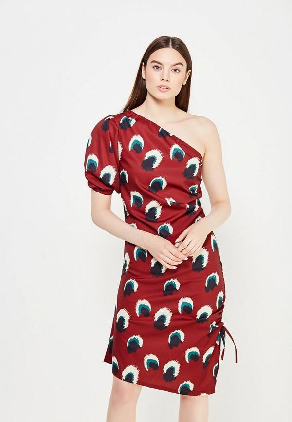 Фото 5 - женское платье Tutto Bene бордового цвета
