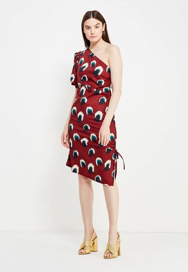 Фото 6 - женское платье Tutto Bene бордового цвета