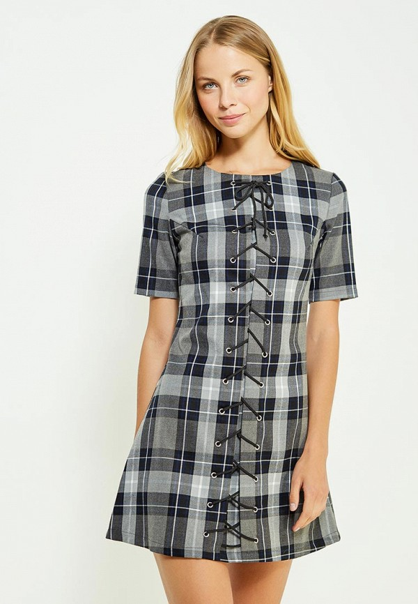 Фото - женское платье Tutto Bene серого цвета