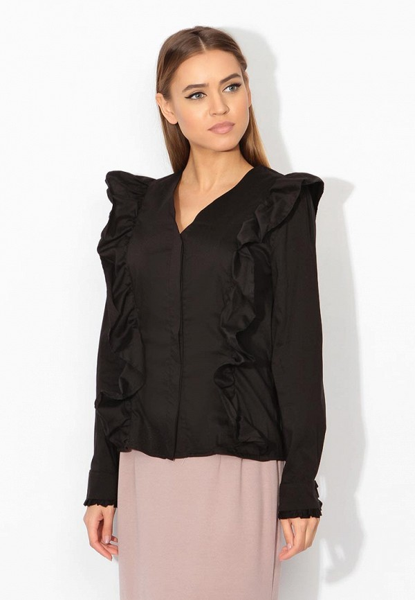 Фото 5 - женскую блузку Tutto Bene черного цвета