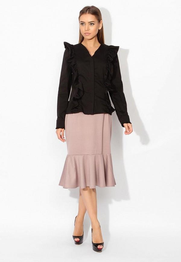 Фото 6 - женскую блузку Tutto Bene черного цвета