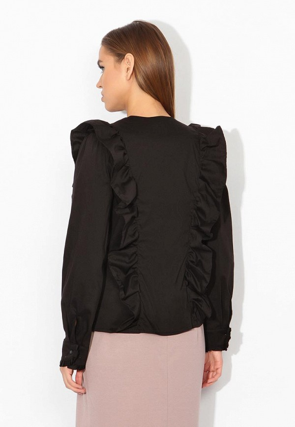 Фото 7 - женскую блузку Tutto Bene черного цвета