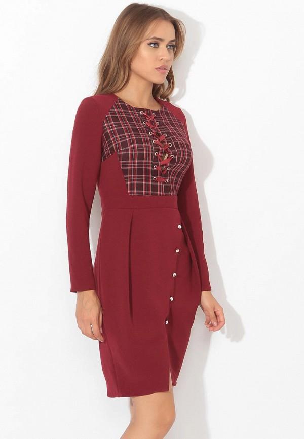 женское повседневные платье tutto bene, бордовое