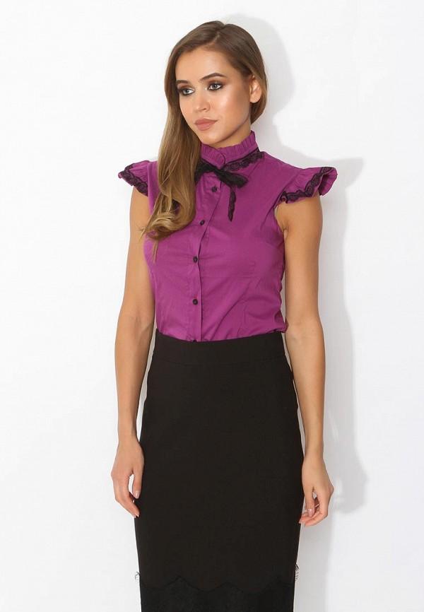 Фото 5 - женскую блузку Tutto Bene фиолетового цвета