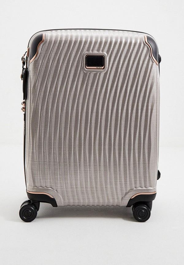 женский чемодан tumi, серый