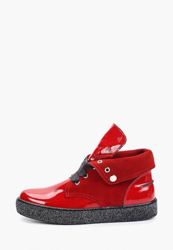женские ботинки tuffoni, красные