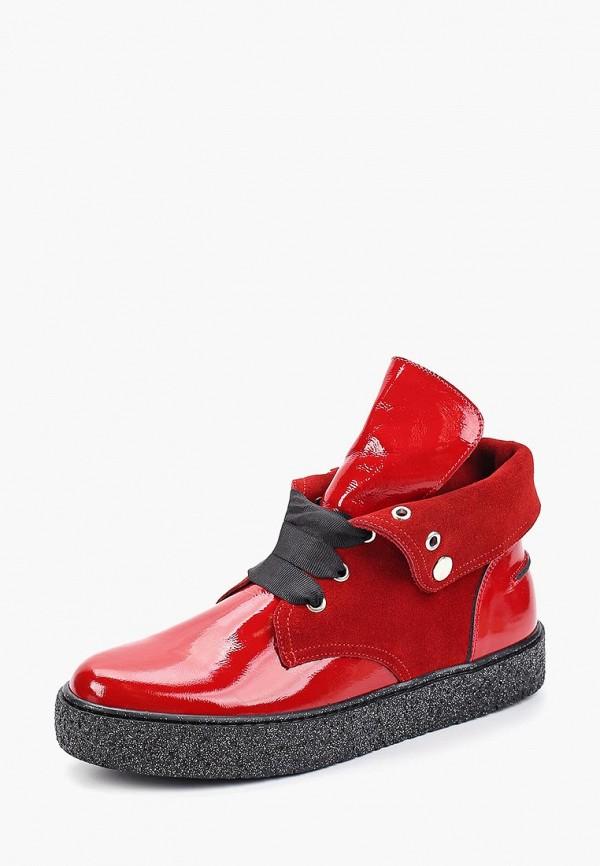 Фото 2 - женские ботинки и полуботинки Tuffoni красного цвета