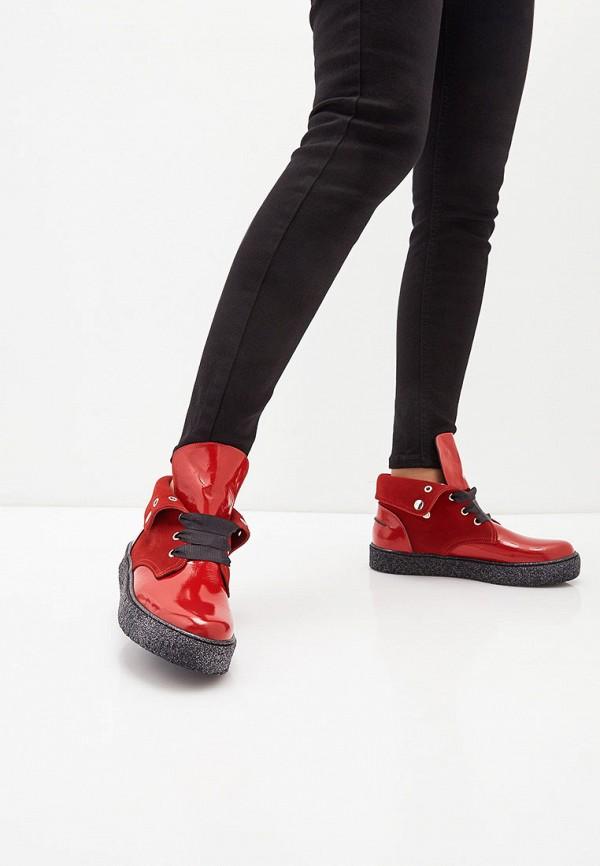 Фото 6 - женские ботинки и полуботинки Tuffoni красного цвета