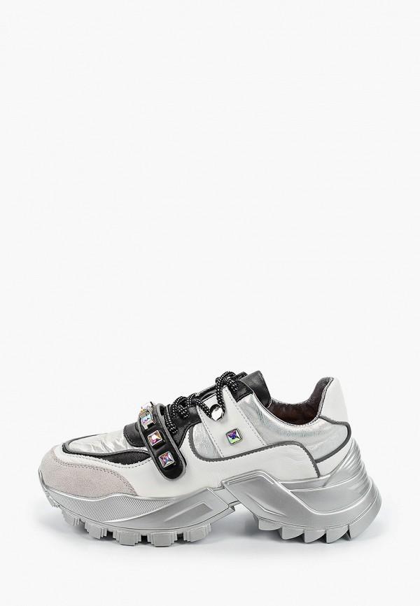 женские кроссовки tuffoni, серебряные