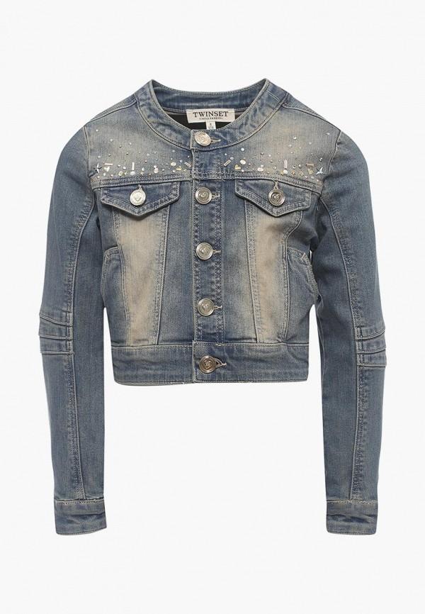 Куртка джинсовая Twin-Set Simona Barbieri Twin-Set Simona Barbieri TW005EGAOZS6