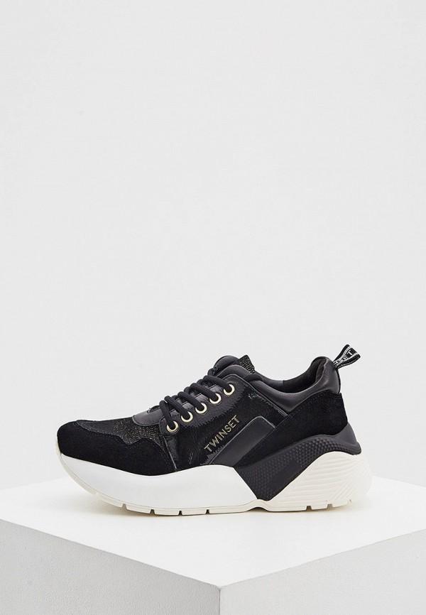 женские кроссовки twinset milano, черные