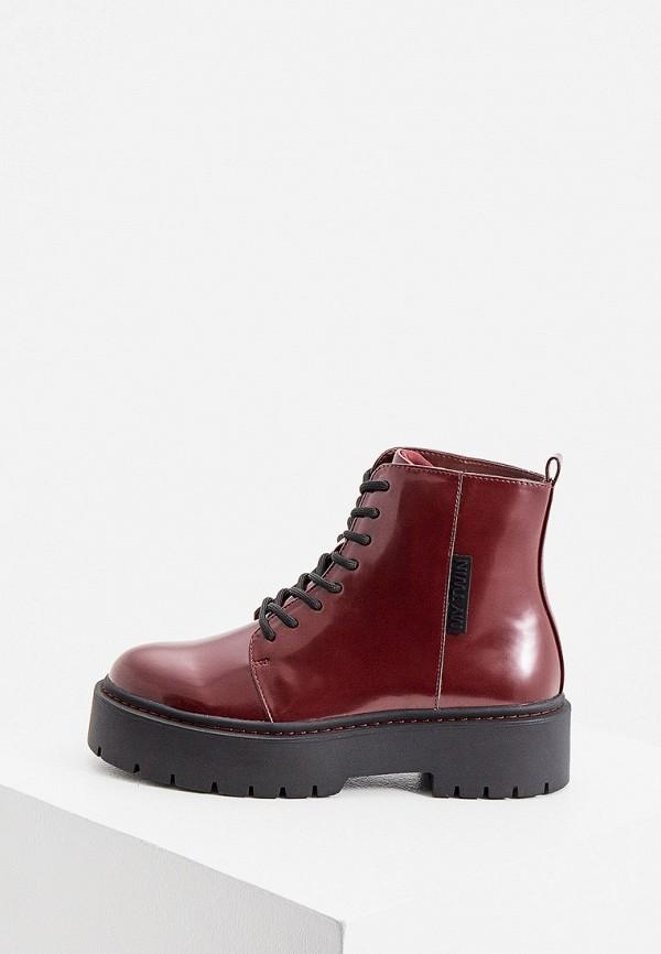 женские ботинки twinset milano, бордовые