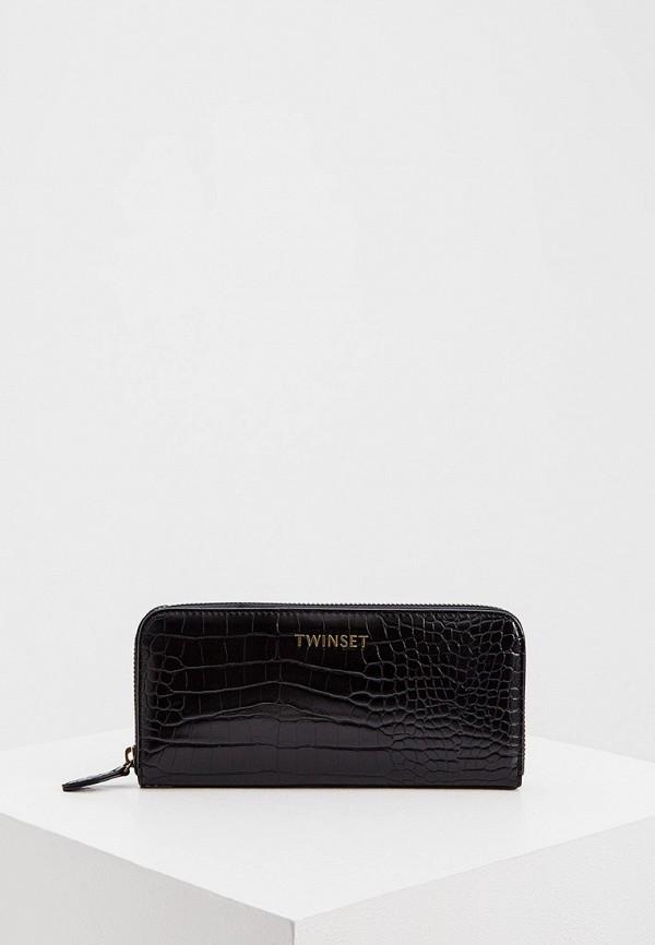 женский кошелёк twinset milano, черный