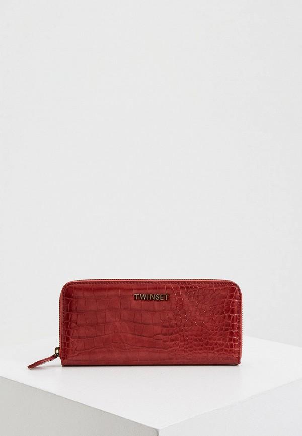 женский кошелёк twinset milano, красный