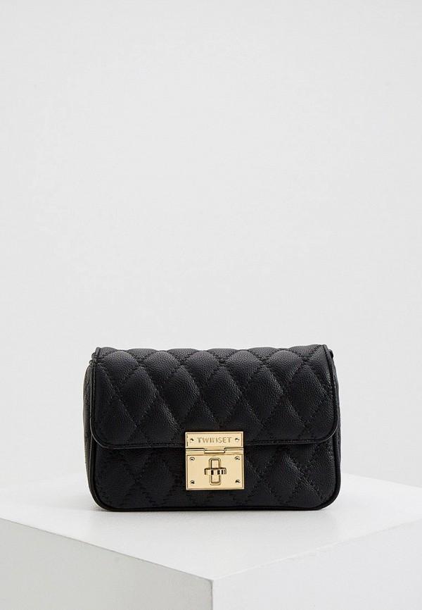 женская сумка twinset milano, черная