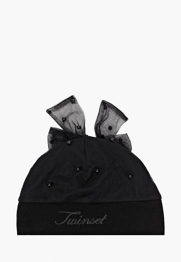 шапка twinset milano для девочки, черная