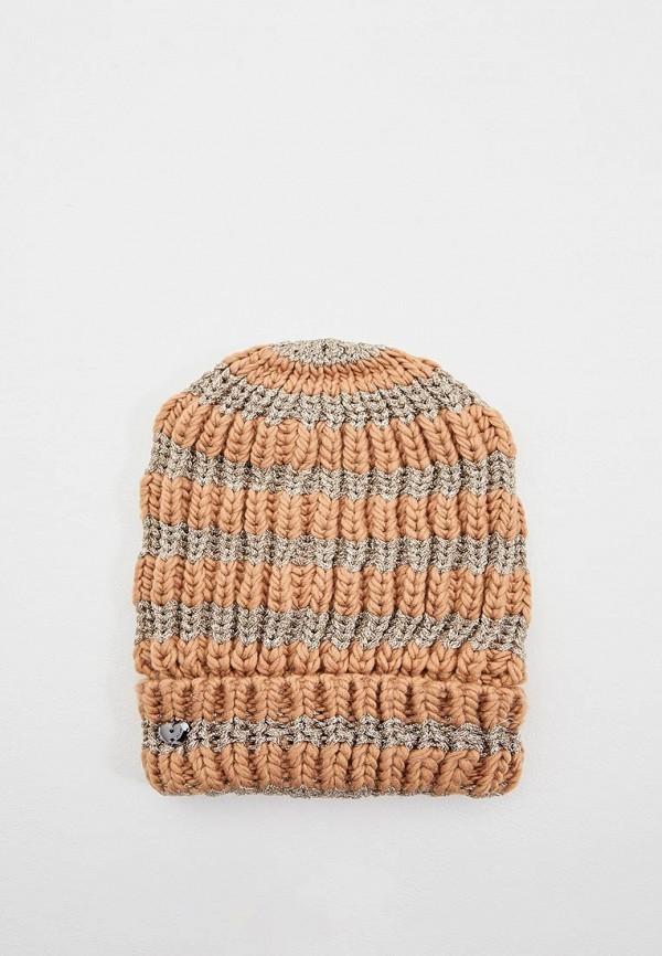 женская шапка twinset milano, бежевая