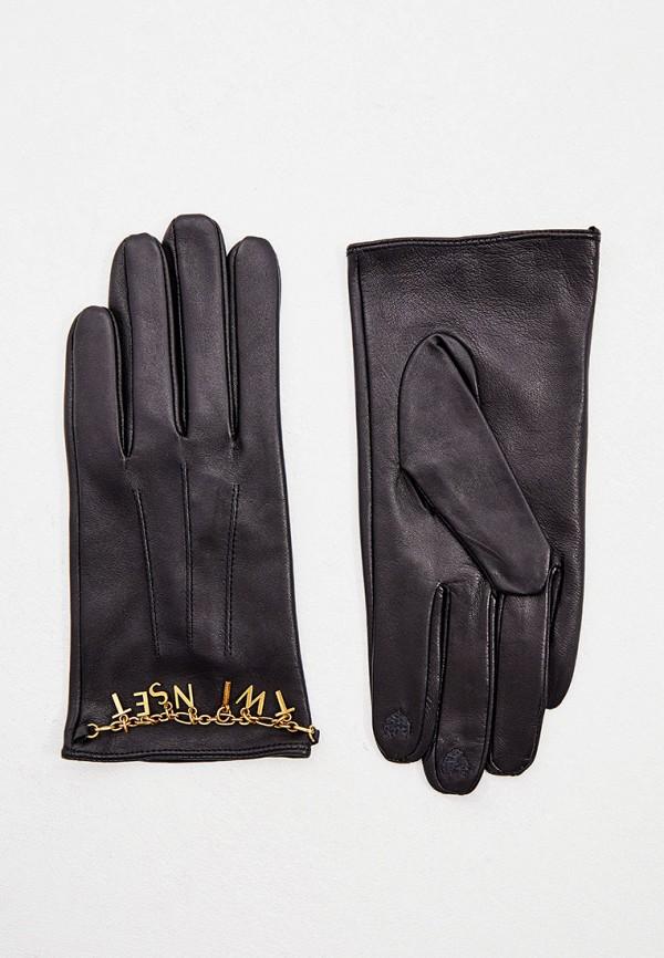 женские перчатки twinset milano, черные