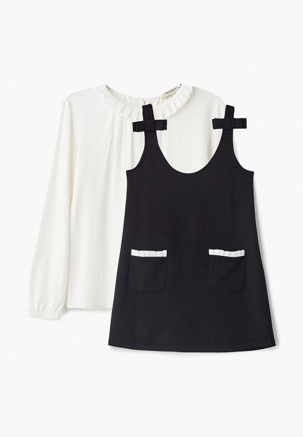 Платье Twinset Milano Twinset Milano TW008EGDBLW8 off the shoulder short sleeve printed crop top elastic waist shorts twinset for women