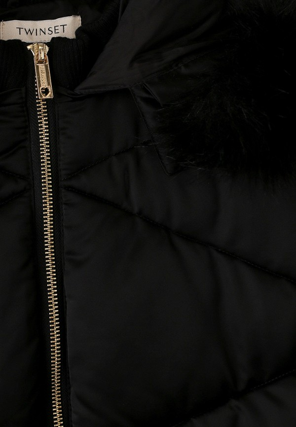 Куртка для девочки утепленная Twinset Milano 192GJ2031 Фото 3