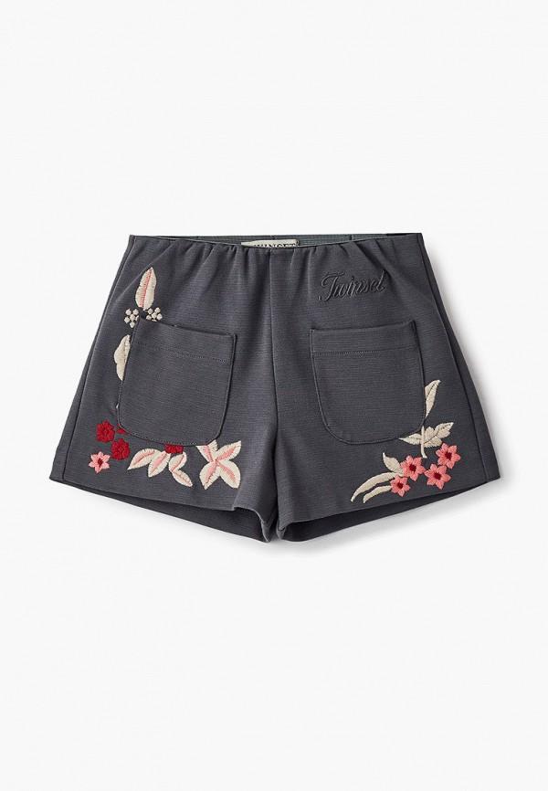 шорты twinset milano для девочки, серые