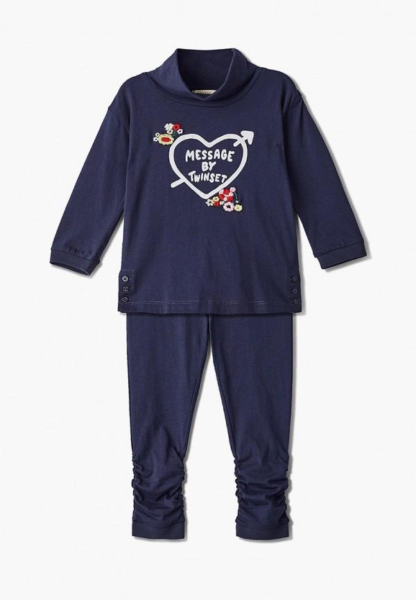 костюм twinset milano для девочки, синий