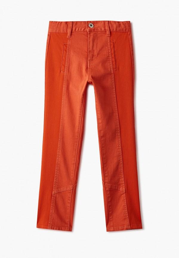брюки twinset milano для девочки, оранжевые