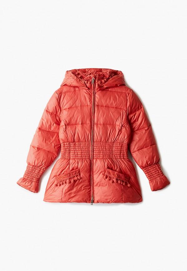 куртка twinset milano для девочки, оранжевая