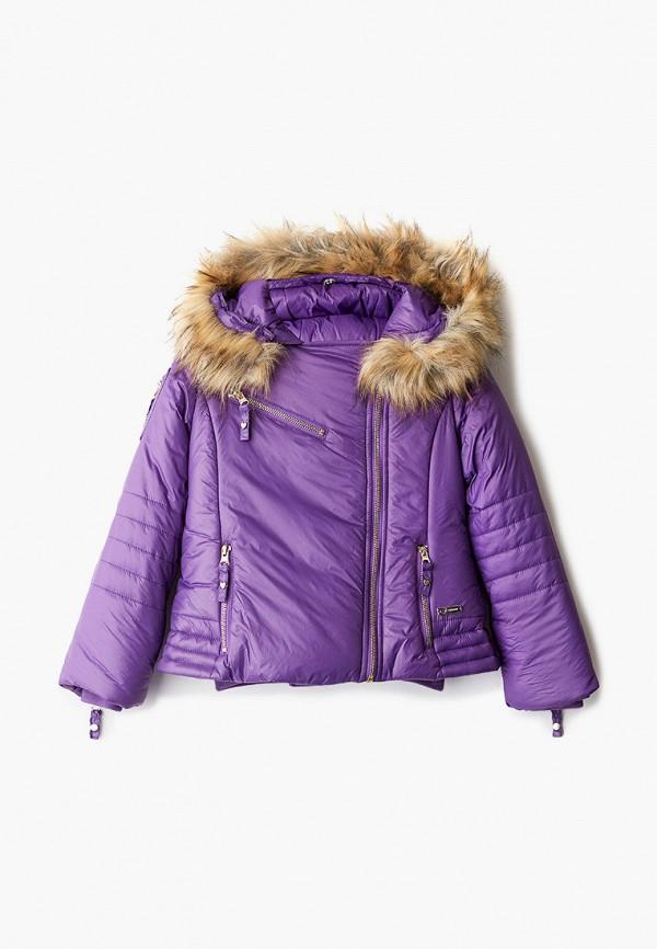 куртка twinset milano для девочки, фиолетовая