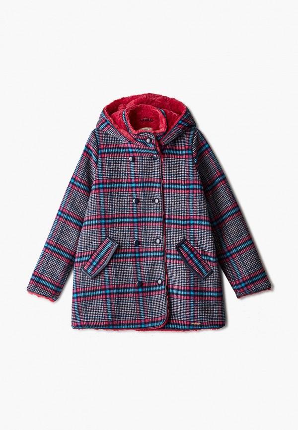 пальто twinset milano для девочки, разноцветное
