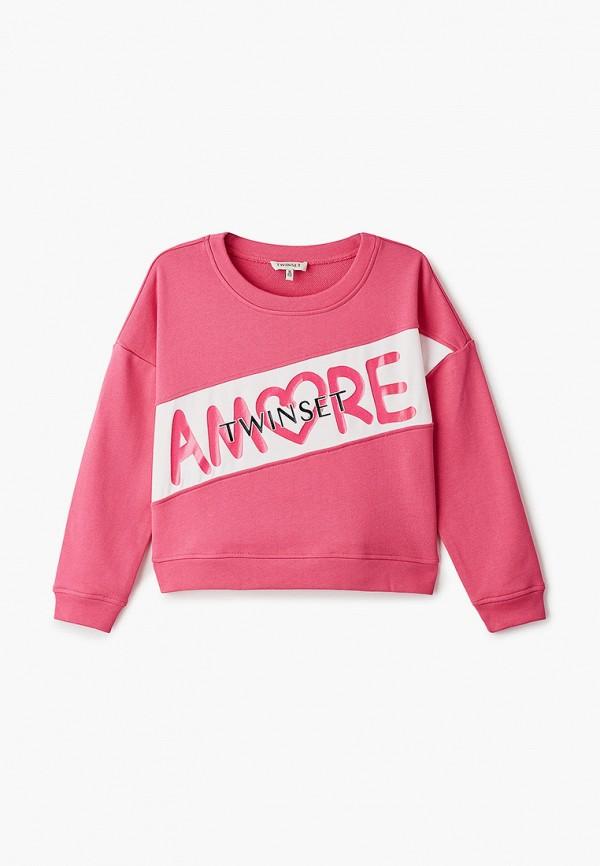 свитшот twinset milano для девочки, розовый