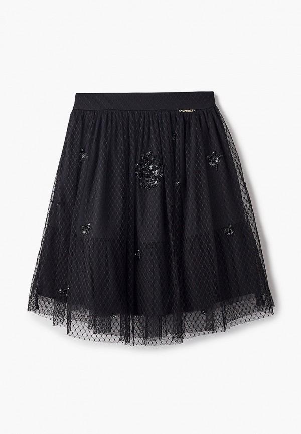 юбка twinset milano для девочки, черная