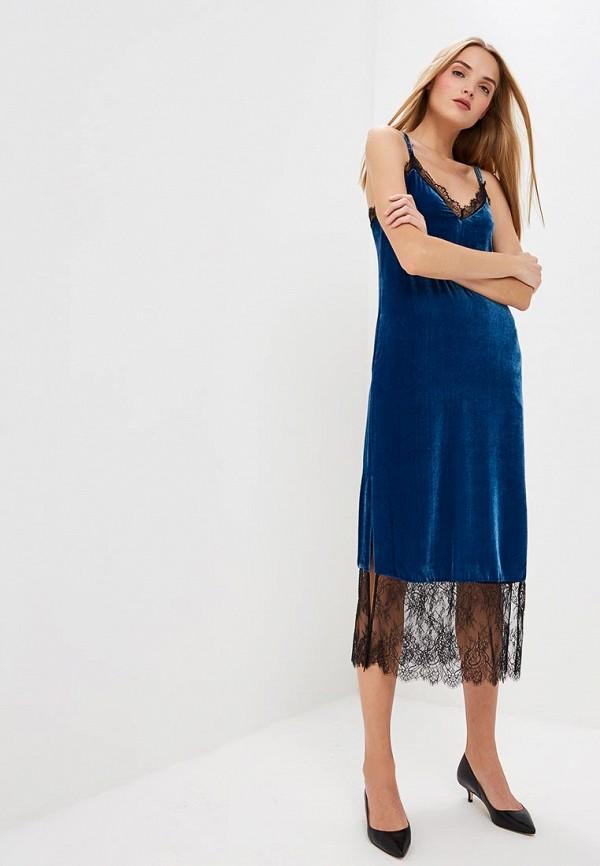 женское платье twinset milano, голубое