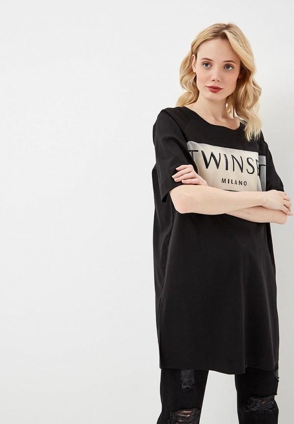 женская туника twinset milano, черная