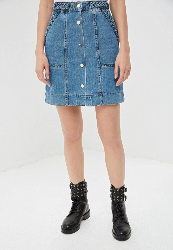 цена Юбка джинсовая Twinset Milano Twinset Milano TW008EWEHUR9 онлайн в 2017 году