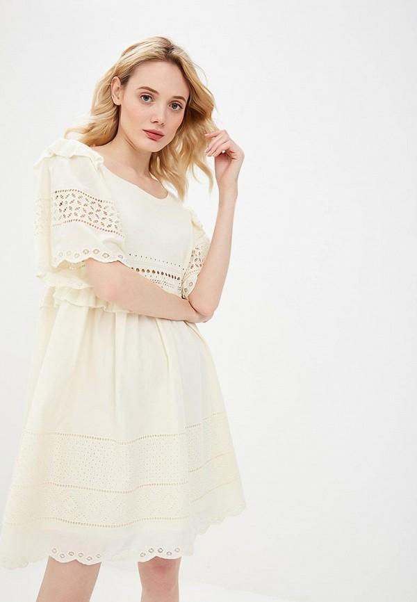 женское платье twinset milano, бежевое