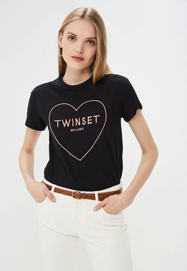 Футболка Twinset Milano Twinset Milano TW008EWEHVB1 куртка twinset milano twinset milano tw008ewehty9